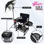 AS SEEN ON TV—FREE NAME LOGO—THE ORIGINAL TUSCANY PRO MID SIZE MAKEUP & HAIR PORTABLE CHAIR W LIGHT SYSTEM (25″ SEAT HEIGHT)-2