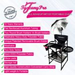 AS SEEN ON TV THE ORIGINAL TUSCANY PRO TALL MAKEUP ARTIST PORTABLE CHAIR W LIGHT SYSTEM -29″ SEAT HEIGHT