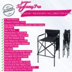 FREE NAME LOGO–Tuscany HOUDINY Telescopic Tall Director Chair