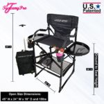 THE AWARD WINNING TUSCANY PRO TALL MAKEUP ARTIST PORTABLE CHAIR DELUXE COMBO-2