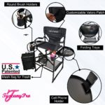 THE AWARD WINNING TUSCANY PRO TALL MAKEUP ARTIST PORTABLE CHAIR DELUXE COMBO-3