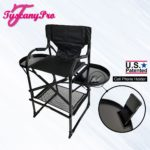 THE AWARD WINNING TUSCANYPRO TALL MAKEUP ARTIST PORTABLE CHAIR-29″ SEAT HEIGHT-3