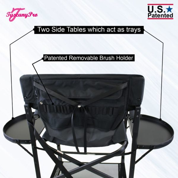 THE AWARD WINNING TUSCANYPRO TALL MAKEUP ARTIST PORTABLE CHAIR-29″ SEAT HEIGHT-4