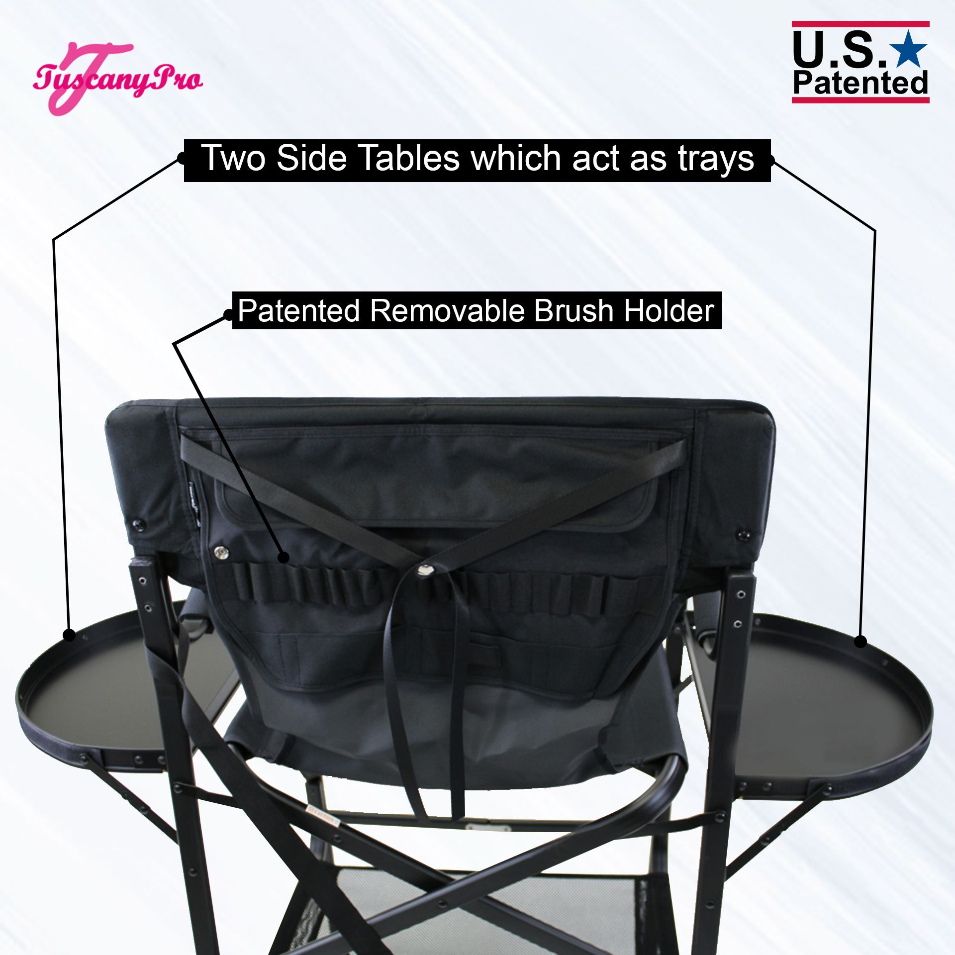 "Tuscany Pro Tall Makeup Artist Portable Chair -29"" Seat Height"