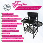 THE AWARD WINNING TUSCANYPRO TALL MAKEUP ARTIST PORTABLE CHAIR-29″ SEAT HEIGHT