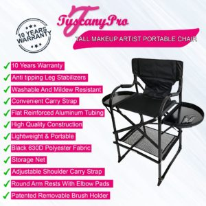 Tall Makeup Artist Portable Chair