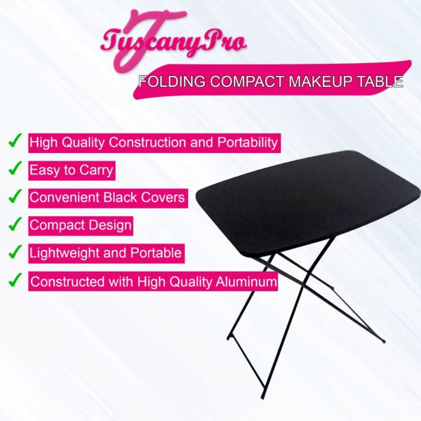TUSCANY PRO FOLDING COMPACT MAKEUP TABLE