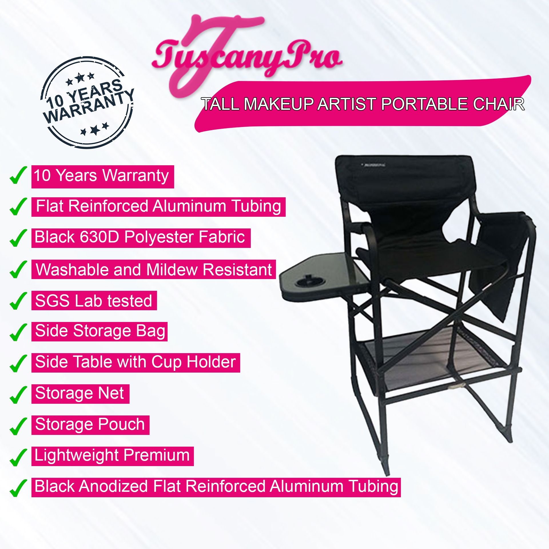 Brilliant Tuscany Pro Tall Makeup Chair 29 Seat Height Tuscany Pro Bralicious Painted Fabric Chair Ideas Braliciousco