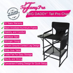 "BIG DADDY"" OVERSIZED HEAVY DUTY TALL MAKEUP CHAIR"