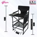 "TUSCANYPRO ""BIG DADDY"" OVERSIZED HEAVY DUTY TALL MAKEUP CHAIR (29″ SEAT HEIGHT)-BIGGER, WIDER…. 350 LBS. MAX WEIGHT CAPACITY-2"