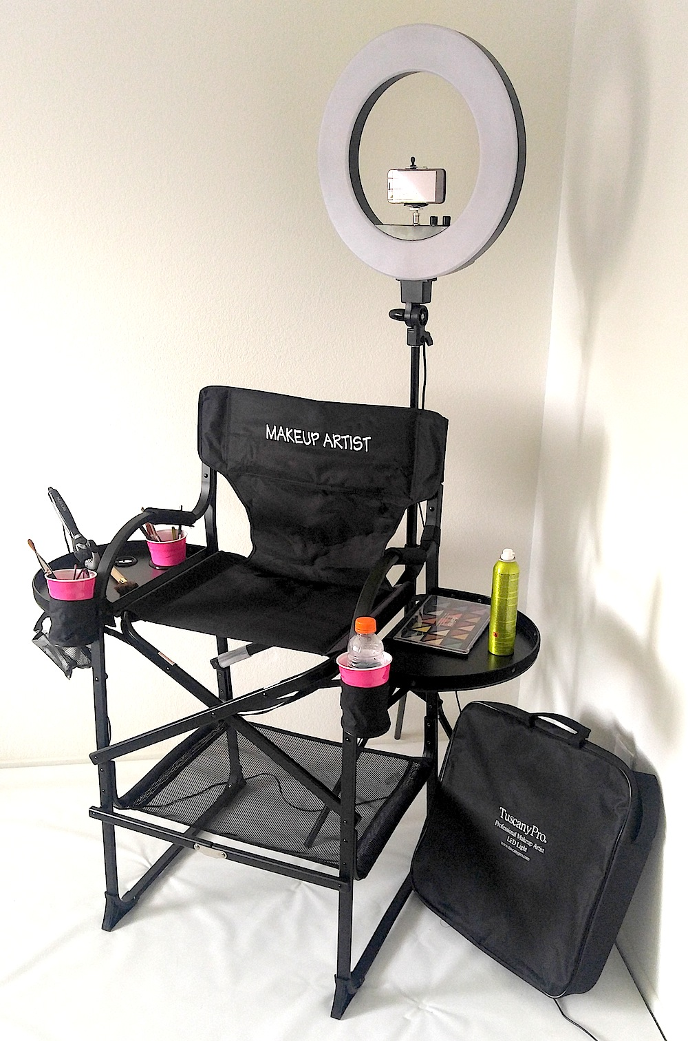 Tuscanypro Folding Compact Makeup Artist Chair W 18 Quot Led
