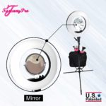 FREE NAME LOGO TUSCANYPRO 18″ LED RING LIGHT W BRUSH HOLDERS, CELL PHONE HOLDERS & MIRROR – 1