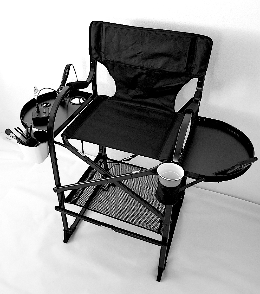 """""""NEW"""" 2019 TuscanyPro Tall Makeup Chair w/ Power Strip – 29′ Seat Height"""