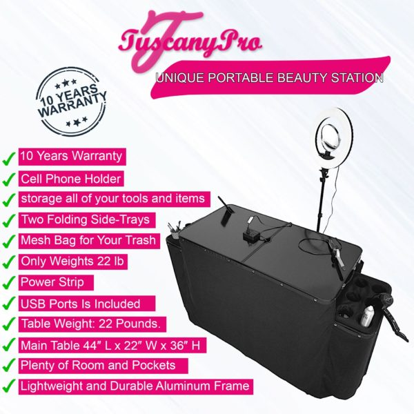 2019 TUSCANYPRO UNIQUE PORTABLE BEAUTY STATION