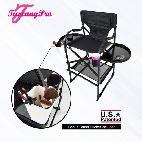 """NEW"""" 2019 TUSCANYPRO MID SIZE HAIRSTYLIST MAKEUP CHAIR W POWER STRIP – 25″ SEAT HEIGHT-2"""