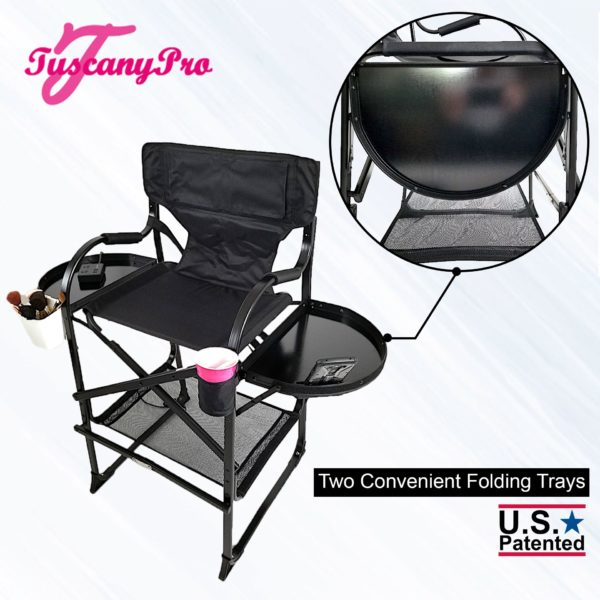 """NEW"""" 2019 TUSCANYPRO MID SIZE HAIRSTYLIST MAKEUP CHAIR W POWER STRIP – 25″ SEAT HEIGHT-6"""