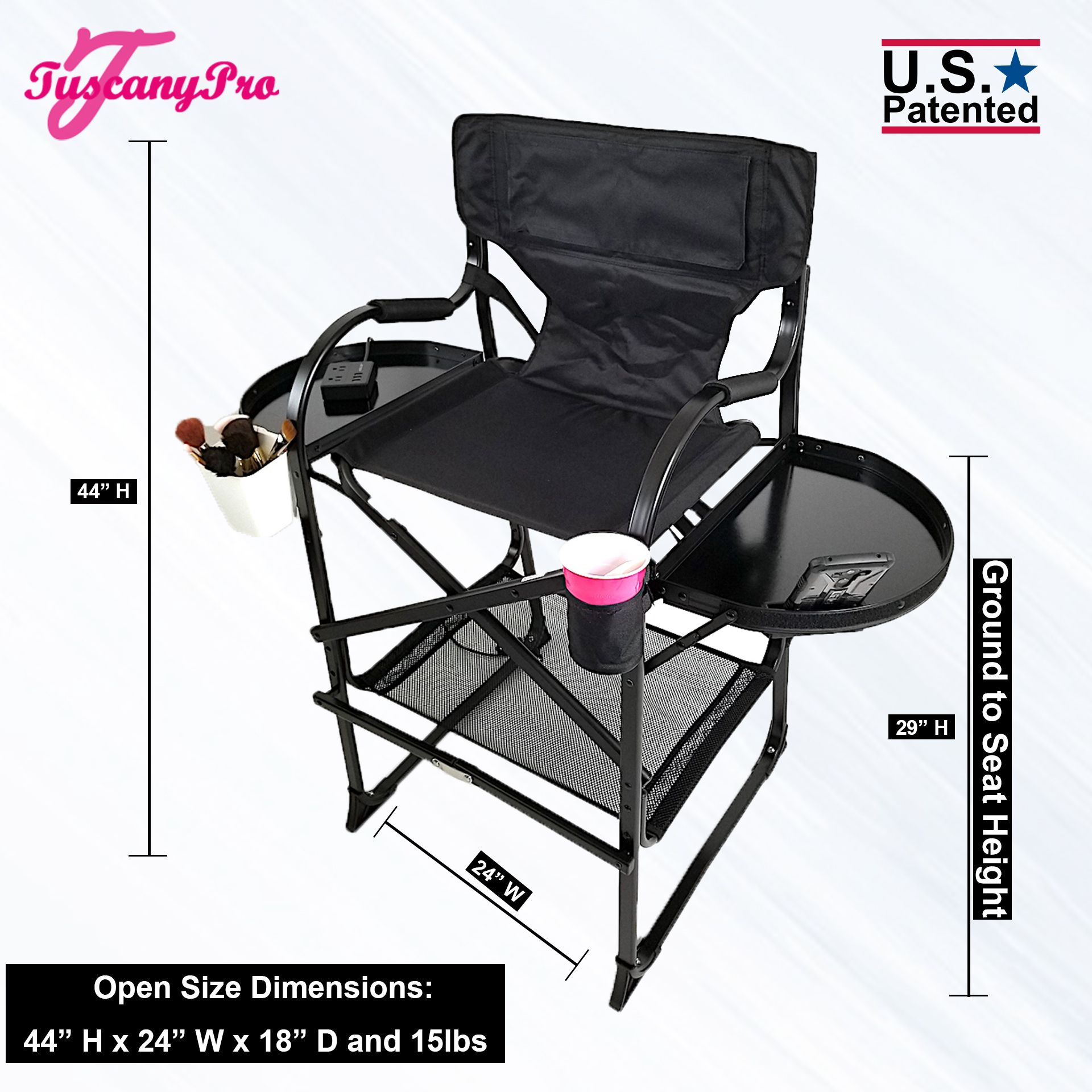 2019 Tuscanypro Tall Makeup Chair W