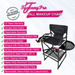 NEW 2019 TuscanyPro Tall Makeup Chair w Power Strip – 29′ Seat Height