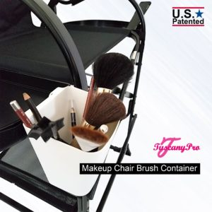 TUSCANYPRO MAKEUP CHAIR BRUSH CONTAINER-WHITE