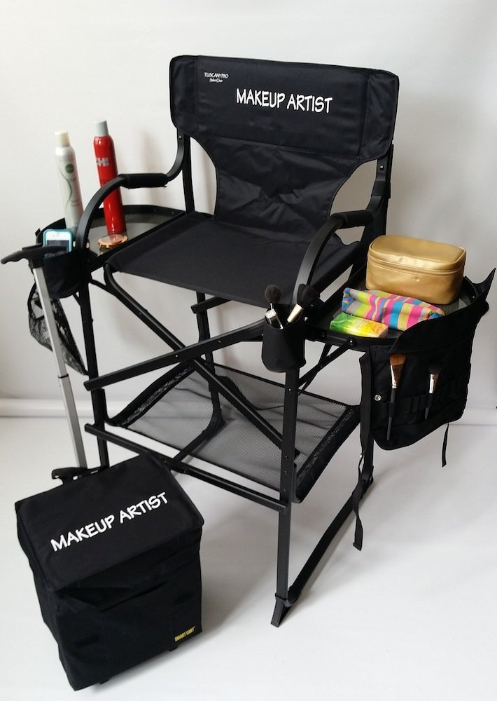 makeup artist table and chair