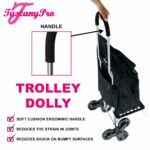 TuscanyPro Eyelashes Cart with Staircase Climber Wheels – Unique Folding Trolley Dolly & Eyelashes Artist Bag – US Patented – 10 Years Warranty – 1