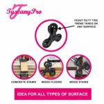 TuscanyPro Eyelashes Cart with Staircase Climber Wheels – Unique Folding Trolley Dolly & Eyelashes Artist Bag – US Patented – 10 Years Warranty – 3