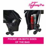 TuscanyPro Eyelashes Cart with Staircase Climber Wheels – Unique Folding Trolley Dolly & Eyelashes Artist Bag – US Patented – 10 Years Warranty – 5