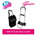 TuscanyPro Hairstylist Cart with Wheels – Unique Folding Trolley Dolly & A Hairstylist Bag – US Patented – 10 Years Warranty – 2