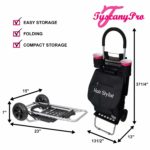 TuscanyPro Hairstylist Cart with Wheels – Unique Folding Trolley Dolly & A Hairstylist Bag – US Patented – 10 Years Warranty – 4