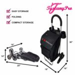 TuscanyPro Makeup Cart with Staircase Climber Wheels – Unique Folding Trolley Dolly & A Makeup Artist Bag – US Patented – 10 Years Warranty – 6