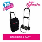 TuscanyPro Nails Cart with Wheels – Unique Folding Trolley Dolly & Nail Artist Bag – US Patented – 5