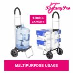 TuscanyPro Nails Cart with Wheels – Unique Folding Trolley Dolly & Nail Artist Bag – US Patented – 9