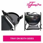 TuscanyPro Portable Makeup & Hair Chair with 14 Inch LED Ring Light – Perfect for Makeup, Hair Stylist, Salon with 25 Inch Seat Height – 7