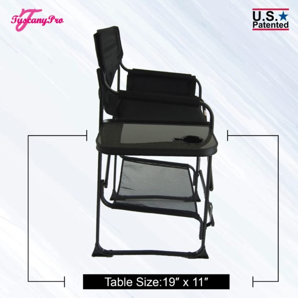 Tall folding makeup chair